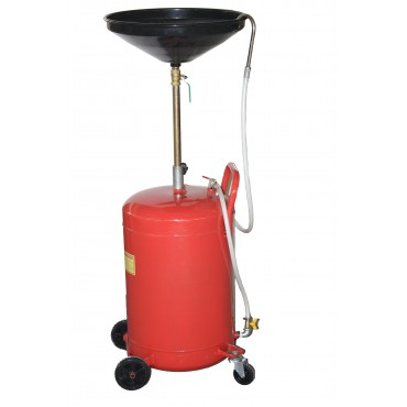 Oil drain 68L with air discharge and funnel attached