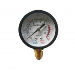 Pressure gauge for sandblasting pot